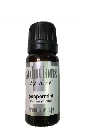 Hive Peppermint Essential Oil. Cool & Refreshing Scent. Relief Nausea, Headaches, Migraines. Soothe Itchy Skin. Mild Anti-Microbial Properties.