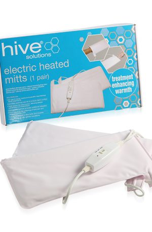 Hive Electric Heated Mitts. Provides extra warmth and comfort during relaxing paraffin heat therapy or luxury manicure treatments. 2 heat settings.