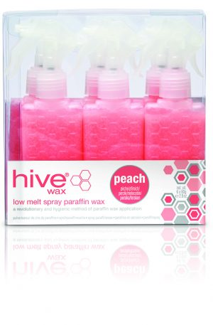 Hive Spray Lavender Low-Melt Paraffin Cartridges. Spray action limits cross contamination and deliver a hygienic and effective application of paraffin wax.