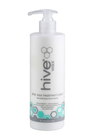 Hive After Wax Treatment Lotion. Designed to effectively cool and soothe skin after waxing. Contains Tea Tree oil - antiseptic qualities and jojoba oil.