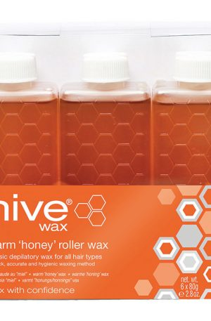 Hive Warm Honey Wax Roller Cartridge. Quick, accurate and hygienic method of wax application without mess. For normal skin and normal/coarse hair.