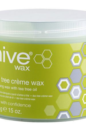 Hive Tea Tree Crème Wax. Low operating temperature. For normal or problem skin and fine/normal hair. With Tea Tree Oil - antiseptic and soothing qualities.
