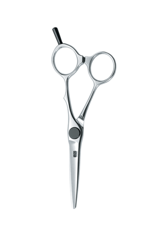"""KASHO Scissors KXP-53SS. Form: Semi-Semi Offset. Length: 5.2"""". For Professional Use: Hairstylists and Barbers. Made in Japan."""