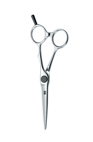 """KASHO Scissors KXP-58SS. Form: Semi-Semi Offset. Length: 5.8"""". For Professional Use: Hairstylists and Barbers. Made in Japan."""