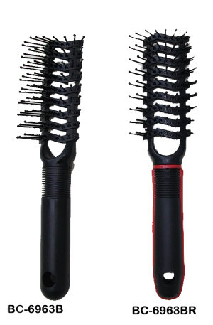 Vent Brushes #6963. Have wider spaced teeth. In combination with a hairdryer, it dries hair quickly compared to other types of brushes. Great styling tool.