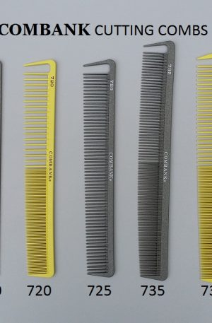 Combank Cutting Combs. Thin, small-spaced teeth that allow for reduced tangling and straight combing. ensure an even haircut.Best used for short hair.