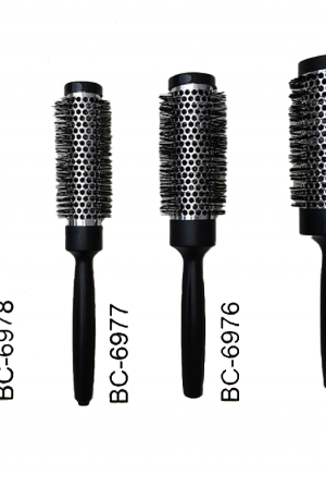 Hot Roller Brushes. Thermal styling brush. Retain heat of hair dryer, speed up hair drying. Tame frizz, add volume. Detachable tail helps w the styling.
