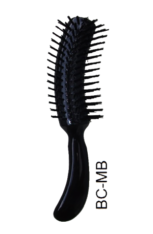Marble Brush. Metal Bristles. Black. Length: 20.5cm. Width: 7cm.