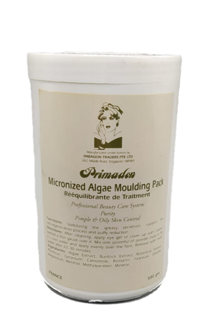 Primadon Micronized Algae Moulding Pack. Pimple & Oily Skin Control. Stabilize greasy secretion, support the cell-regeneration process and puffy reduction.