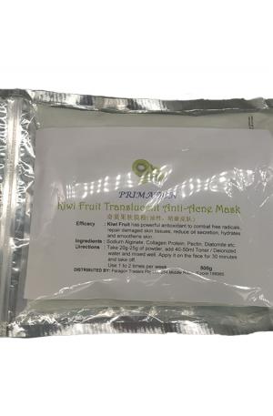 Primadon Kiwi Fruit Translucent Anti-Acne Mask. Powerful antioxidant to combat free radicals, repair damaged skin tissues, reduce oil secretion, hydrates and smoothens skin.
