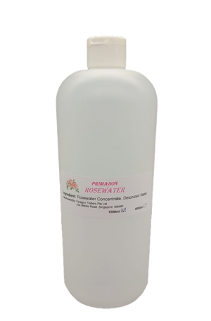 Primadon Rosewater 4L. Ingredient: Rosewater Concentrate, Deionized Water. Soothe Skin Irritation. Reduce Skin Redness. Anti-Aging Properties.