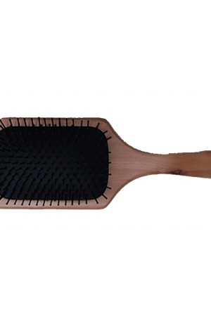 Wooden Paddle Brush. Detangling & smoothing. Ideal for long, thick or straight hair. Soft pad reduces pain and the wide bristles reduce damage.