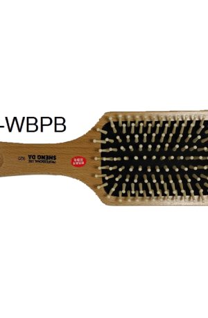 Wooden Bristle Paddle Brush. Soft pad reduces pain and the wide bristles reduce damage. Detangling & smoothing. Ideal for long, thick or straight hair.