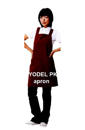 Yodel PK Salon Apron. For hairstylists & barbers. Made in Korea. Colour: Wine Red.
