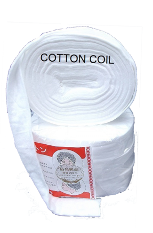 Cotton Coil for Hair. Keep the dyed strands divided and separated from the rest of the hair while doing the balayage technique. Prevents hair demarcation.