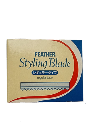 Feather Styling Blade. Regular Type. 6.5cm (L), 1.5 (W). 10 pieces. Made in Japan