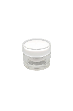 Plastic Cosmetic Jar. To put cosmetic cream. 4.5cm (Width), 3.5 (Height). For Beauty Salons.