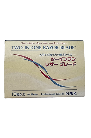 Two-In-One Razor. 10 blades. 7cm (L), 1cm (W). For Hair Salons.